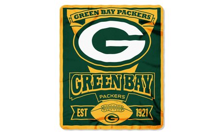 NFL 031 Packers Marque Fleece Throw