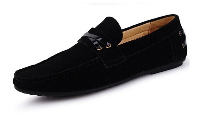Men's Suede Leather Dull Polish Moccasin Loafer