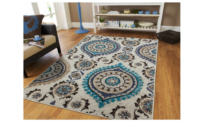 fashionable floral area rug 5x8 navy cream beige 5x7 rugs