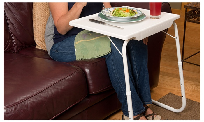 evelots ultimate adjustable folding laptop tv dinner table | groupon Adjustable Dinner Table
