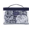 Jacki Design Mystique 3 Pc Cosmetic Bag Set Blue