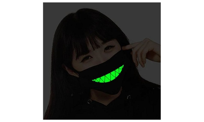 Cotton Teeth Luminous Anti-Dust Mouth face Mask Anime Halloween Gift  - as picture / one size