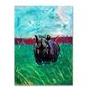 Lowell S.V. Devin Rhino in the Grass Canvas Print