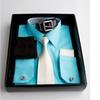 6-Piece Men's Dress Shirt, Tie, Hanky, Socks, Belt, and Cufflinks Set