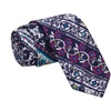 Knot Society Men's Blue Cotton Novelty Print Fabric Skinny Tie