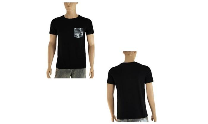 Mens JYNCO Crewneck T-Shirt with Camo Print Pocket - Assorted Colors