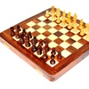 Deluxe 7 Inches Travel Magnetic Wooden Chess Board with Chess Pieces