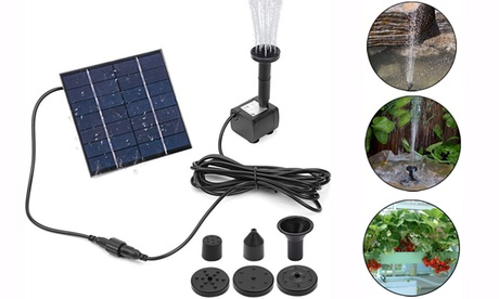 Solar Panel Powered Water Fountain Pool Pond Garden Water Sprinkler with Pump