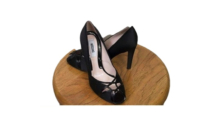 New Moschino Peep Toe Heel Womens Shoes Black Size 8.5