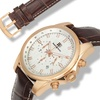 Buech And Boilat Grand Boucle Mens Watch Brown/Rose Gold