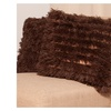 Soft and Comfy Plush Long Banded Faux Fur 18 Throw Pillows 2 Set