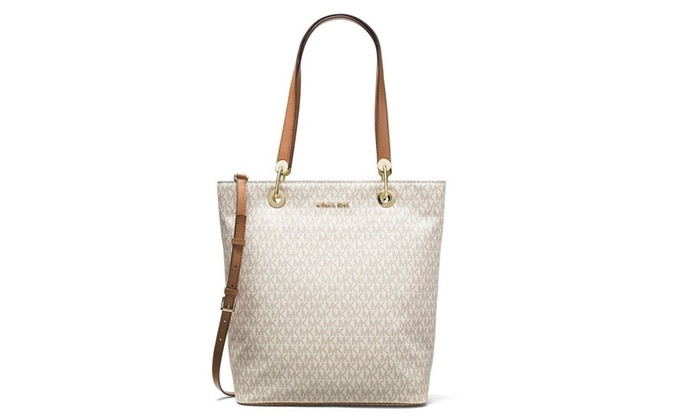 abafdcb52169 Michael Kors Raven Signature Large Shoulder Tote Bag