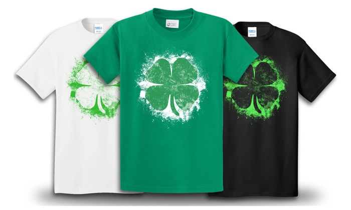 St. Patrick's Day Grunge Clover T-Shirt