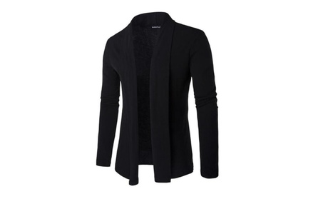 Men's Cardigans Long Sleeve Open Front Shawl Collar Cardigans 2fdb2bce-bd2b-406d-8b38-e9856afc1c21