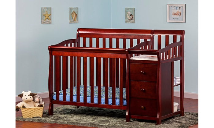 Dream On Me Jayden 4 In 1 Mini Convertible Crib And Changer ...