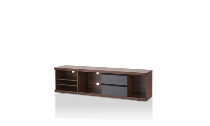 Velasquez Transitional Multi Shelf Tv Console In Dark