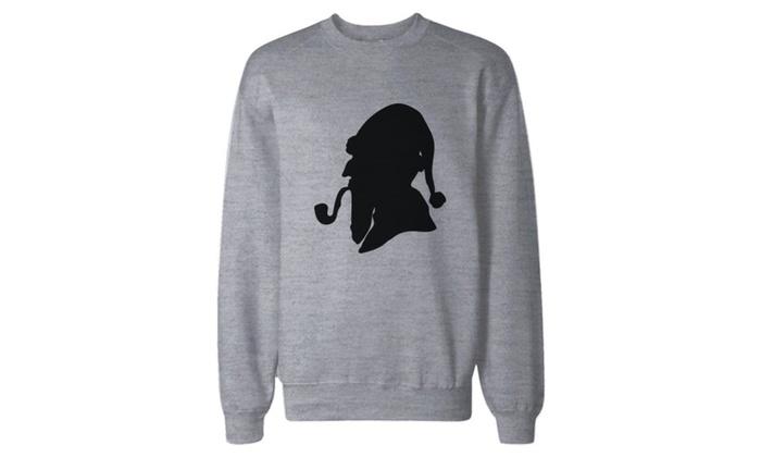Consulting Detective Santa Silhouette Sweatshirt Pullover Fleece