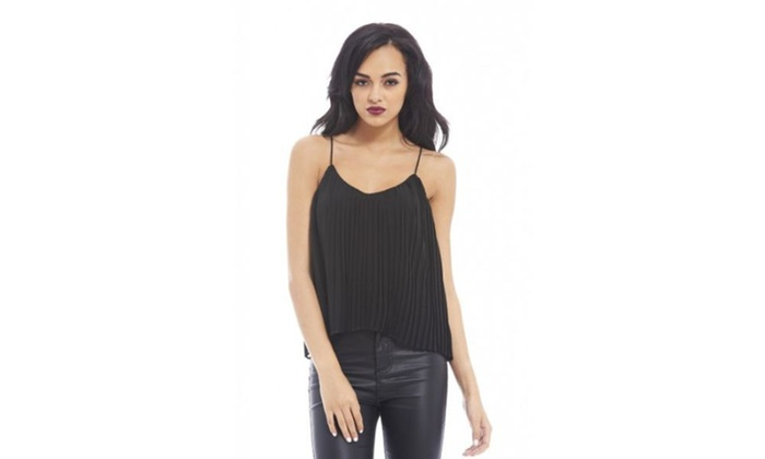 AX Paris Chiffon Pleated Top