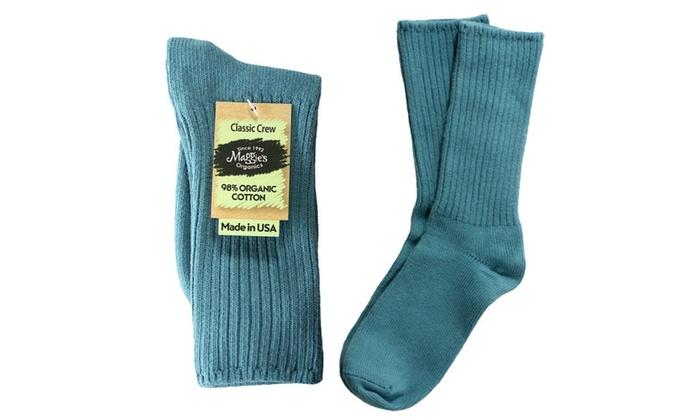 53b34d723 Maggies Organic Socks Ribbed Crew Denim Blue | Groupon