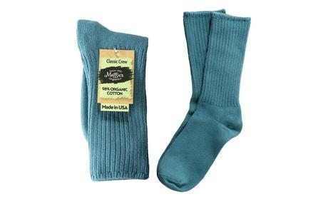 Maggies Organic Socks Ribbed Crew Denim Blue 837e9ade-f7c1-49b1-866c-d7d0a75017bc