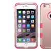 Insten Hybrid Silicone Case For iPhone 6 6s plus Rose Gold Hot Pink