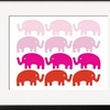 Pink Elephant Family by  Avalisa