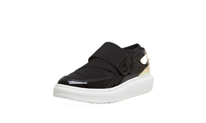DPN Women's Stylish Nylon-button Sneakers