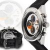 Force One Aitken Chronograph Mens Watch Black/White/Orange