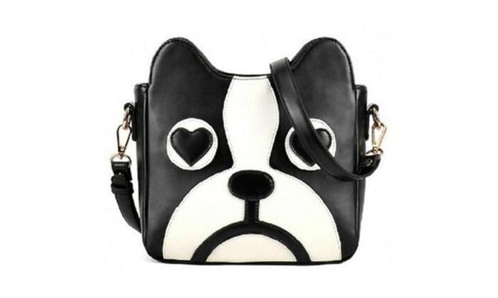 Retro Fashion Shoulder Bag Sweet Cartoon Cute Little Dog Pack