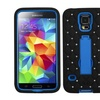 Insten Dark Blue stand Case Cover with Bling Blings For Galaxy S V