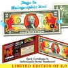 2018 Chinese New YEAR OF THE DOG - Red Hologram Legal Tender Two-Dollar Bill