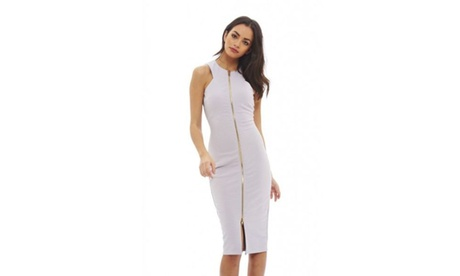 AX Paris Women's Zip Front Bodycon Dress 0cbc92ab-c470-421a-b331-0fff33d475a6