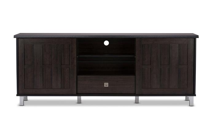 Unna 70 Inch Dark Brown Wood TV Cabinet ...