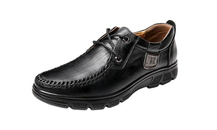 Men's Low Heel Simple Dress Shoes