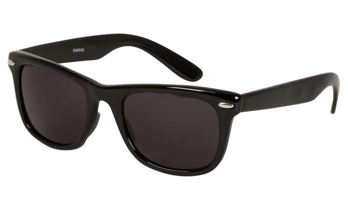 Sakkas Retro 1980's Wayfarer Style Sunglasses with Super Dark Lens