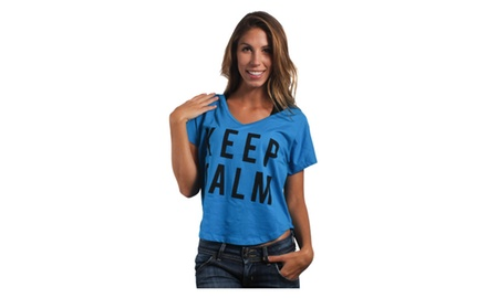 Keep Calm Crop Top