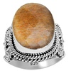 Orchid Jewelry Sterling Silver 12 Carat Oval Sunstone Gemstone Ring