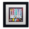 Design Turnpike 'Jazz Series Piano' Matted Black Framed Art