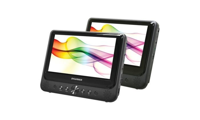 Sylvania SDVD9805 9″ Dual-screen Portable DVD Player