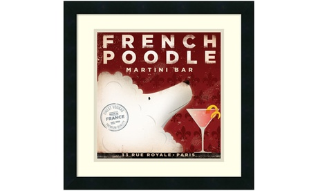 Stephen Fowler 'French Poodle' Framed Art Print 18x18-in d70b6632-641f-4586-bb52-51bb95a872e3