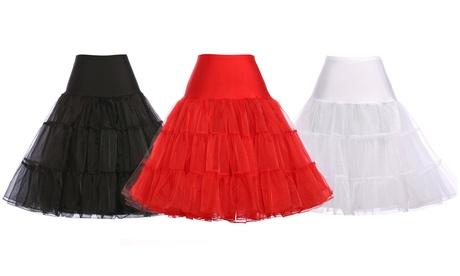 Verno Women's 50s Rockabilly Petticoat Skirts