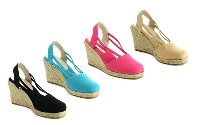 C Label Rollin-5 Espadrille Wedge Sandals
