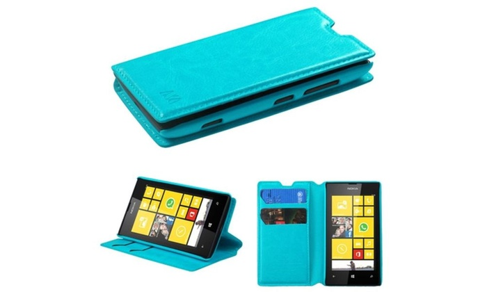 Insten Blue MyJacket Wallet Case Cover with 564 For NOKIA Lumia 520