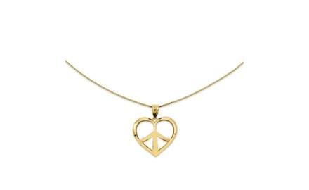 IceCarats Designer Jewelry 14Ky Pol Hrt Pendant on 18 Chain