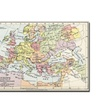 Europe at the Time of the Third Crusade 1190 Canvas Print