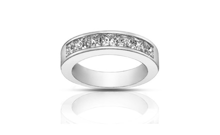 1.50 ct Ladies Princess Cut Diamond Wedding Band Ring