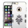 Insten Furious Skull/Iron Gray Hybrid SiliconeCase For iPhone 6 Plus
