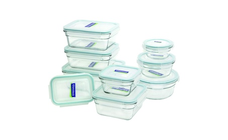 Glasslock 18-Piece Assorted Oven Safe Container Set 588cc2d6-17af-44dc-afea-f6d214c6f6a0
