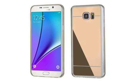 Insten Hard Rubber Cover Case For Samsung Galaxy Note 5 - Gold