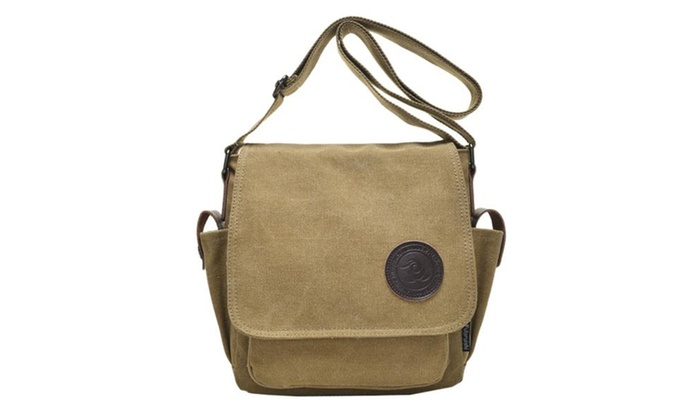 Men's Retro Casual Canvas Weekend Crossbody Messenger Bag
